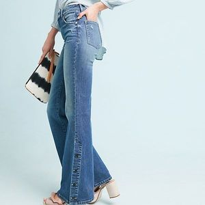 Anthropologie Pilcro High-Rise Bootcut buttons 27